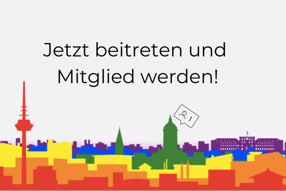 Die Mannheimer Stadtkulisse in Regenbogenfarben